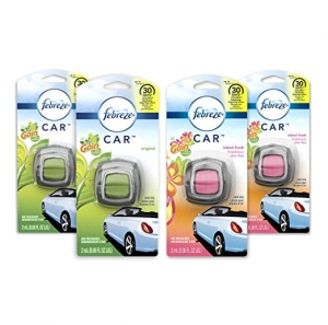 ihocon: Febreze Car Air Freshener, 2 Gain Original and 2 Gain Island Fresh scents (4 Count.06 fl oz) 汽車空氣芳香劑