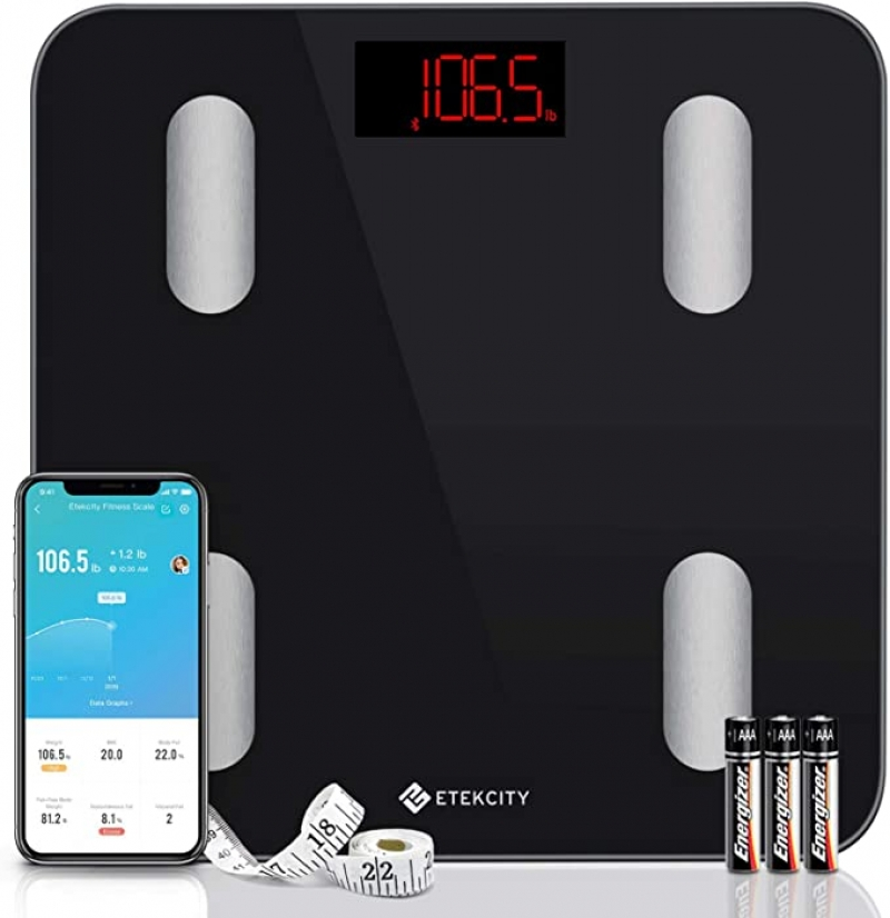 ihocon: Etekcity Smart Body Fat Scale for Body Weight, BMI, and Weight Loss,Sync 13 Key Body Compositions with Other Fitness Apps 智能體脂體重秤