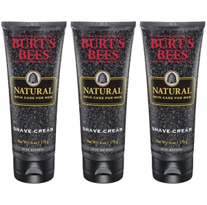 ihocon: Burt's Bees Natural Skin Care for Men Shave Cream, 6 Ounces, Pack of 3 男士刮鬍霜