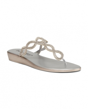 ihocon: DON UORRI Made In Italy Metallic Low Wedges  意大利製女鞋