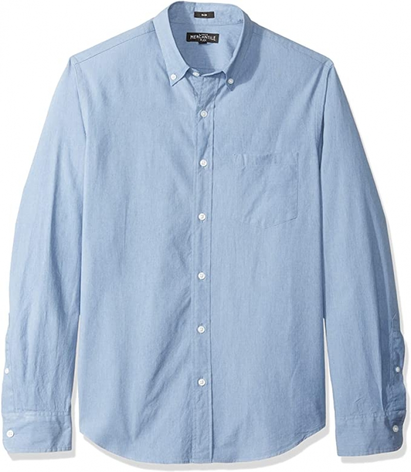 ihocon: J.Crew Mercantile Men's Slim-fit Long Sleeve Textured Shirt 男士長襯衫
