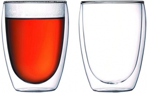 ihocon: Bodum Pavina Glass, Double-Wall Insulate Glass, 12 Ounces (Set of 2)雙層玻璃杯