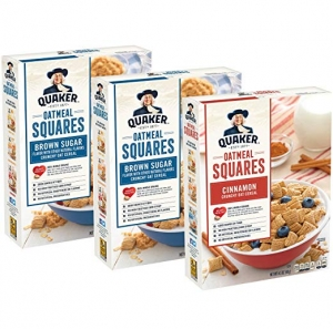 ihocon: Quaker Oatmeal Squares Breakfast Cereal Variety Pack, 43.5 Ounce