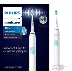 ihocon: Philips Sonicare HX6817/01 ProtectiveClean 4100 Rechargeable Electric Toothbrush, White 飛利浦電動牙刷