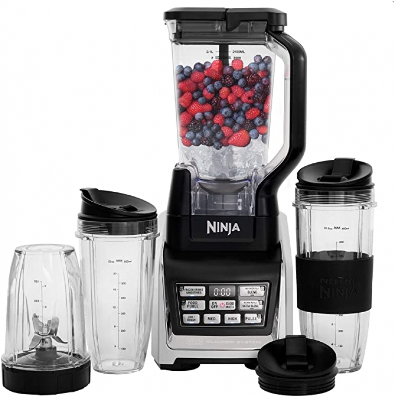 ihocon: Ninja BL642 NutriNinja Blender Duo with Auto-iQ and Cups (Black)