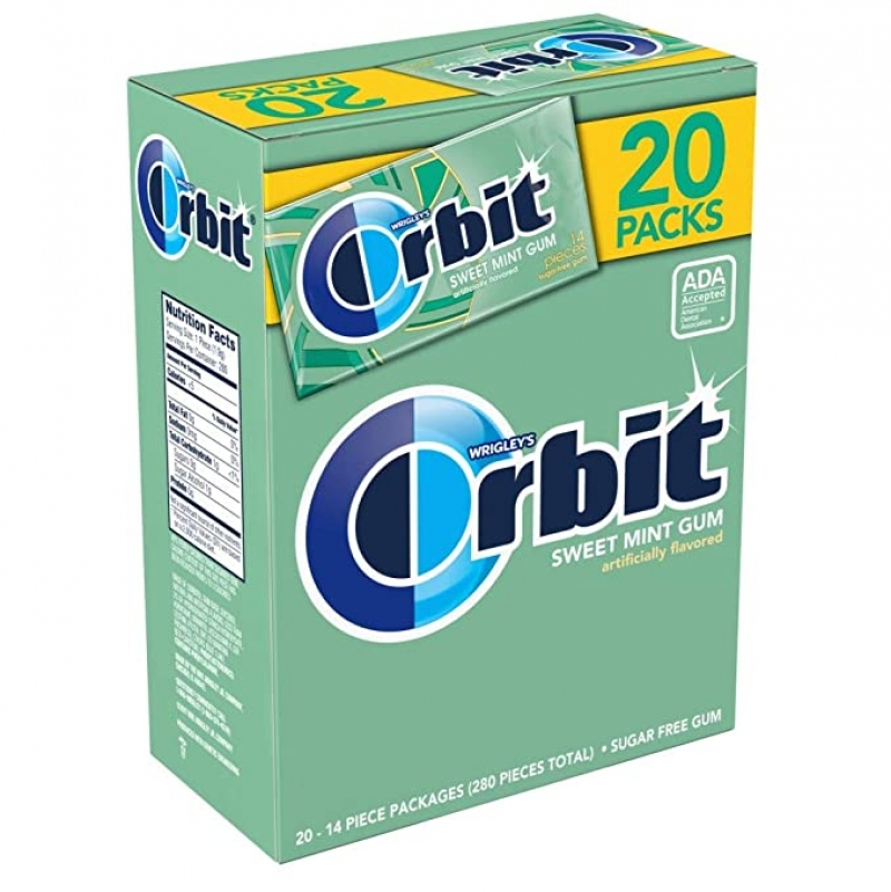 ihocon: ORBIT Sweet Mint Sugarfree Gum 20 Pack Box 280 Pieces 薄荷無糖口香糖