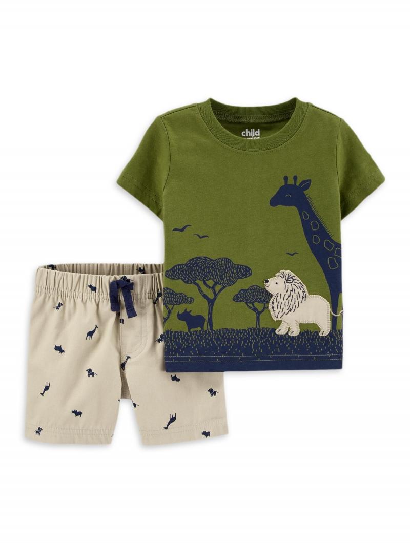 ihocon: Child of Mine by Carter's Baby Boy Safari, 100% Cotton, 2 Piece 2件式純棉童裝-多色可選