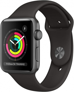 ihocon: Apple Watch Series 3 (GPS, 42mm) - Space Gray Aluminum Case with Black sport Band