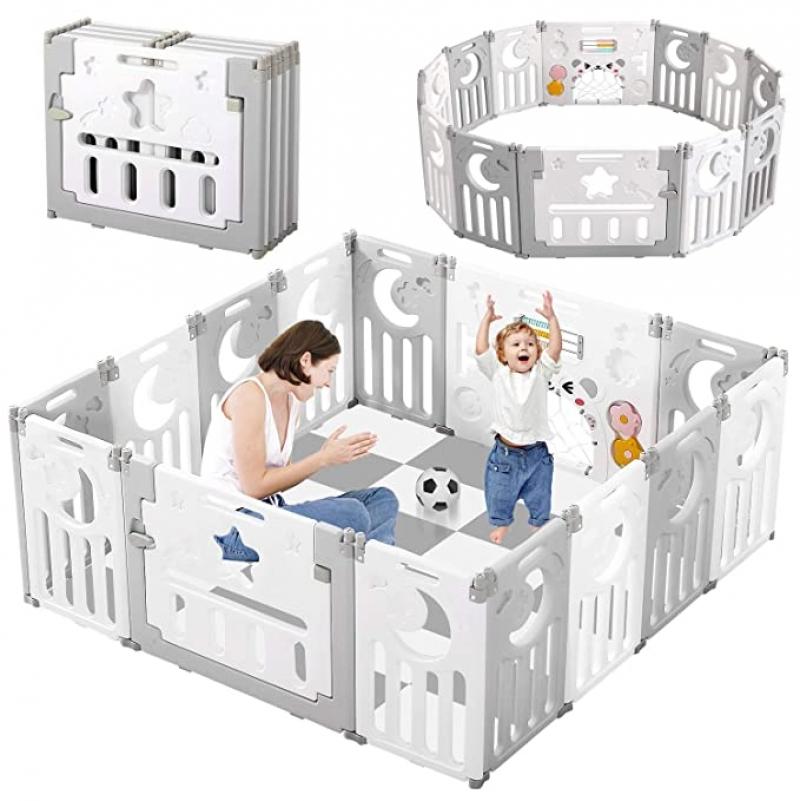 ihocon: Dripex Upgrade Foldable Kids Activity Centre Safety Play Yard  兒童安全遊戲圍欄