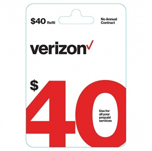 ihocon: $40 Verizon Wireless Prepaid Refill Top up PIN Card (Mail Delivery)