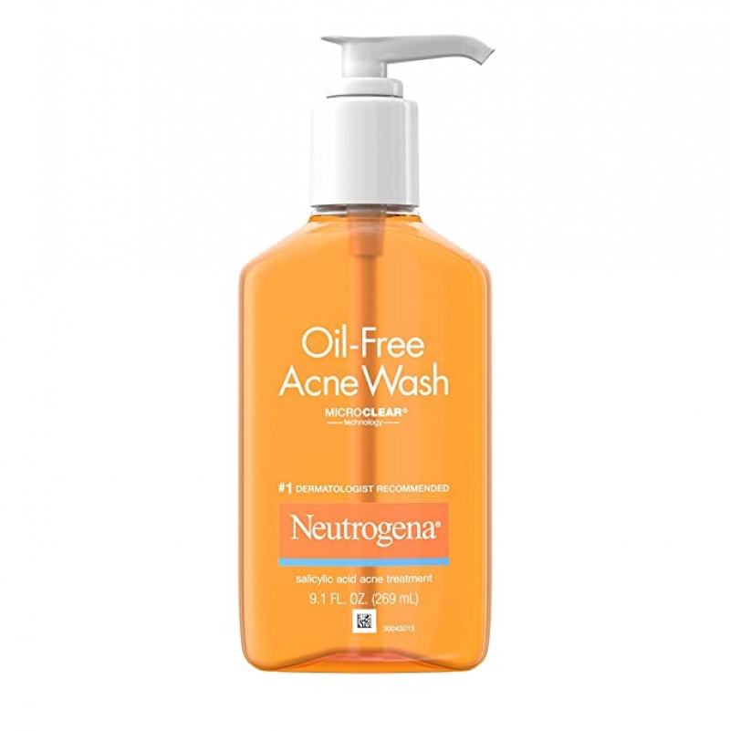 ihocon: Neutrogena Oil-Free Acne Fighting Facial Cleanser with Salicylic Acid Acne Treatment Medicine, 9.1 fl. oz, 3 pk 露得清青春痘洗面乳