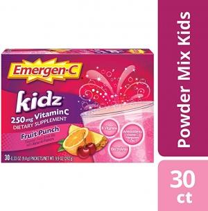 ihocon: Emergen-C Kidz Vitamin C 250mg Powder (30 Count)兒童免疫力增強沖泡粉