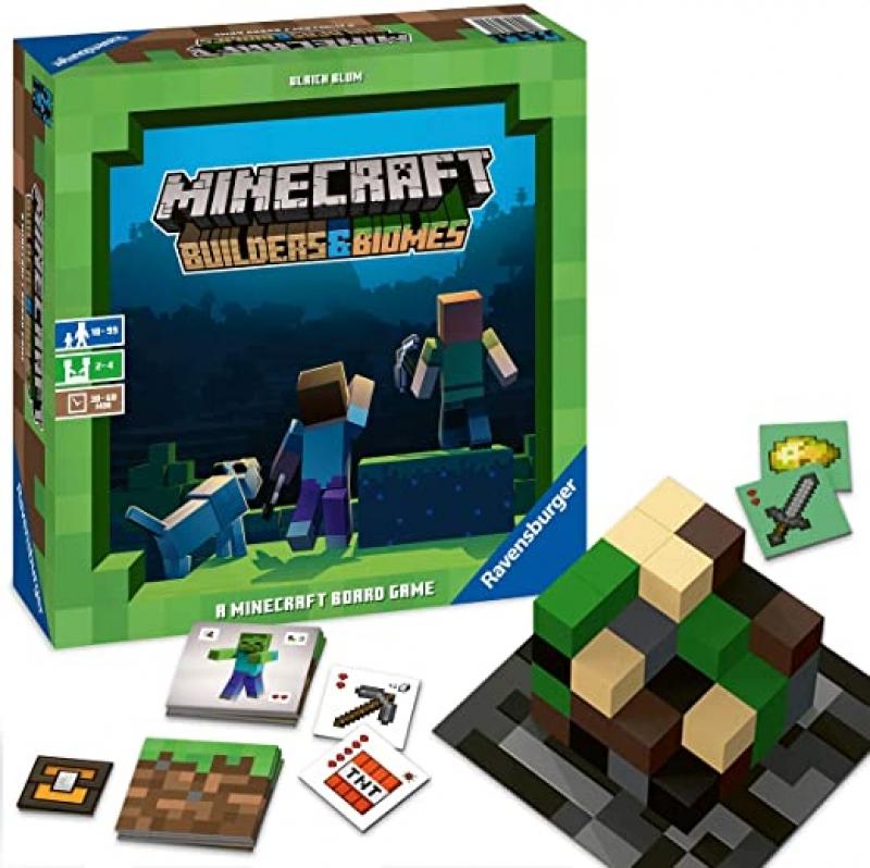 ihocon: 桌遊 - Ravensburger Minecraft: Builders & Biomes Strategy Board Game