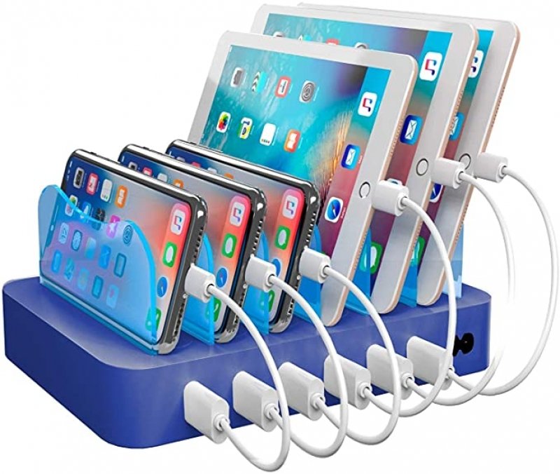 ihocon: Hercules Tuff Charging Station for Multiple Devices - 6 Short Mixed Cables Included 充電座