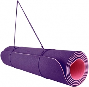 ihocon: REEHUT 1/4-Inch High Density TPE Exercise Yoga Mat for Pilates, Fitness & Workout with Carrying Strap 瑜伽墊