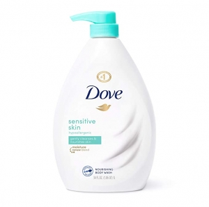ihocon: Dove Body Wash |Sensitive Skin | 34 oz Pump 沐浴乳