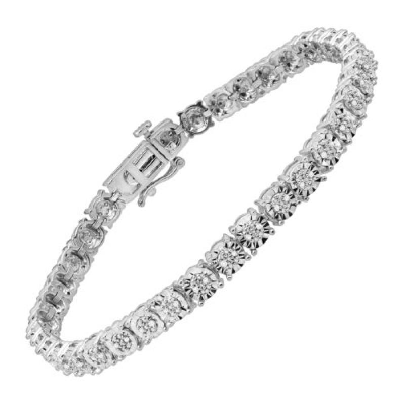 ihocon: 1/4 ct Diamond Tennis Bracelet in Sterling Silver 純銀1/4克拉鑽石手鍊