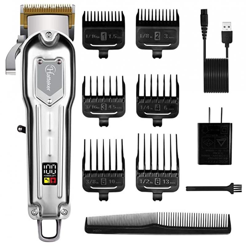 ihocon: Hatteker Cordless Rechargeable Hair Trimmer Kit 無線電墧理髮器