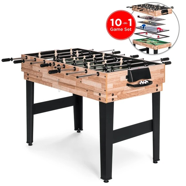 ihocon: Best Choice Products 2x4ft 10-in-1 Combo Game Table Set w/ Billiards, Foosball, Ping Pong, & More 組合遊戲桌