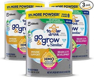 ihocon: Go & Grow by Similac Non-GMO Toddler Milk-Based Drink with 2'-FL HMO for Immune Support, Powder, 36 oz, 3 Count 幼兒牛奶飲品