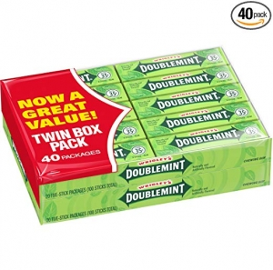 ihocon: Wrigley's Doublemint Chewing Gum, 5-count (40 Packs) 箭牌薄荷口香糖