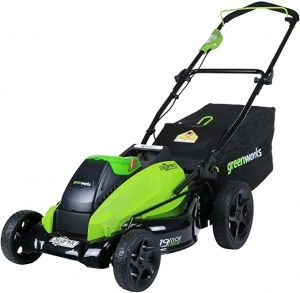 ihocon: Greenworks 19-Inch 40V Cordless Lawn Mower, Battery Not Included 無線電動除草機(不含電池)