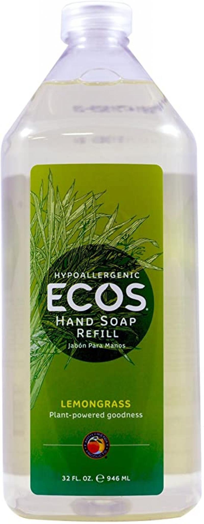 ihocon: ECOS Hypoallergenic Hand Soap, Lemongrass, 32oz Refill Bottle 洗手液皂