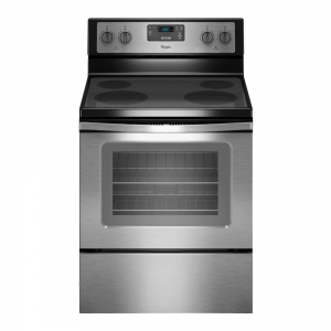 ihocon: Whirlpool 4.8 cu. ft. Electric Range in Stainless Steel 惠而浦不銹鋼電爐頭