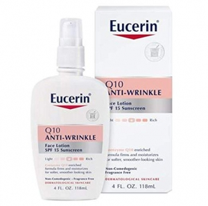 ihocon: Eucerin Q10 Anti-Wrinkle Face Lotion with SPF 15 - Fragrance-Free, Moisturizes for Softer Smoother Skin - 4 fl. oz Bottle 抗皺面霜