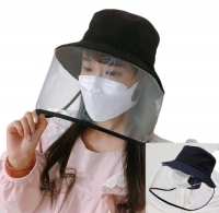 ihocon: Face Shield Anti-spitting Protective Hat Cover Outdoor Fisherman Hat Adjustable Size (Black) 防護面罩遮陽帽