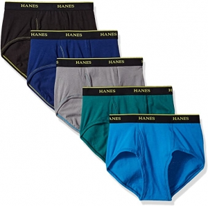ihocon: Hanes Men's 5-Pack Cool Comfort Lightweight Breathable Mesh Brief 男士內褲
