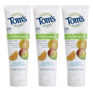 ihocon: Tom's of Maine Anticavity Fluoride Children's Toothpaste, 4.2 Ounce (Pack of 3) 兒童防蛀齒牙膏
