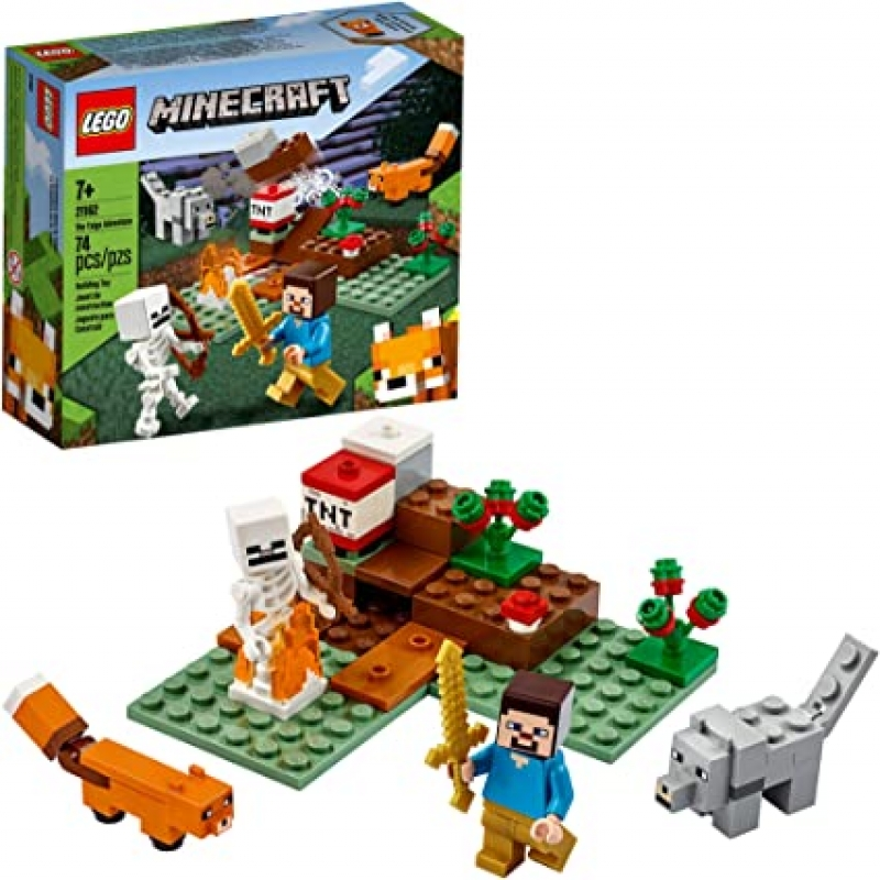 ihocon: [2020新款] LEGO Minecraft The Taiga Adventure 21162 Brick Building Toy, New 2020 (74 Pieces)