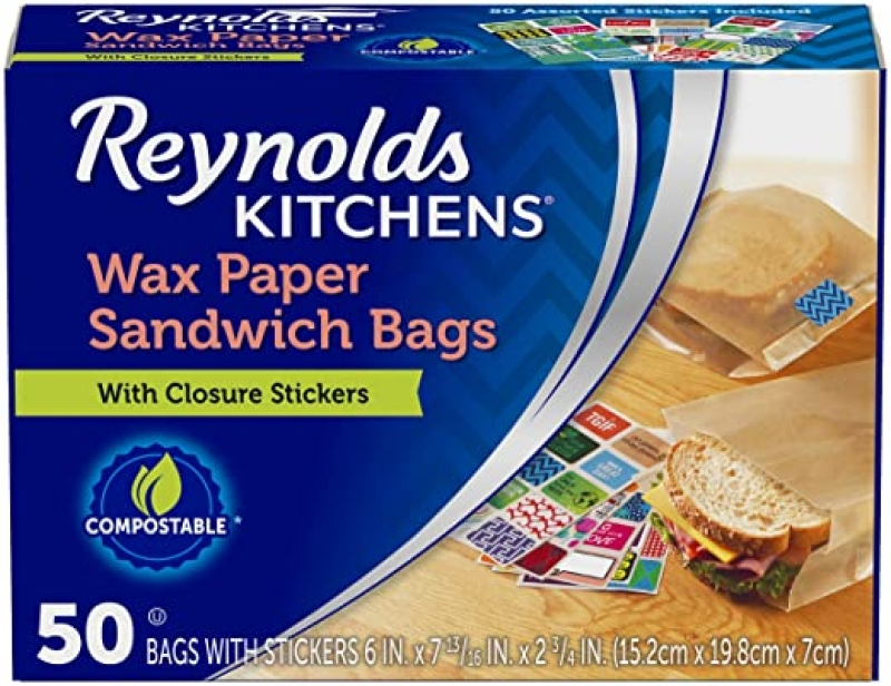 ihocon: Reynolds Kitchens Wax Paper Sandwich Bags - 6x7-13/16, 50 Count 三明治蠟紙袋