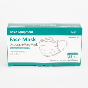 ihocon: Basic Equipment 3-Ply Disposable Masks 一次性口罩 25個