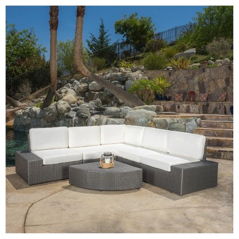 ihocon: Santa Cruz 6pc Wicker Patio Sofa Set 室外沙發桌椅