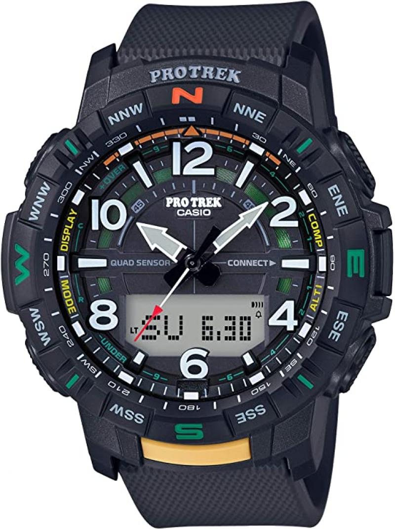 ihocon: Casio Men's Pro Trek Bluetooth Connected Sport Watch 西歐藍芽男士運動錶