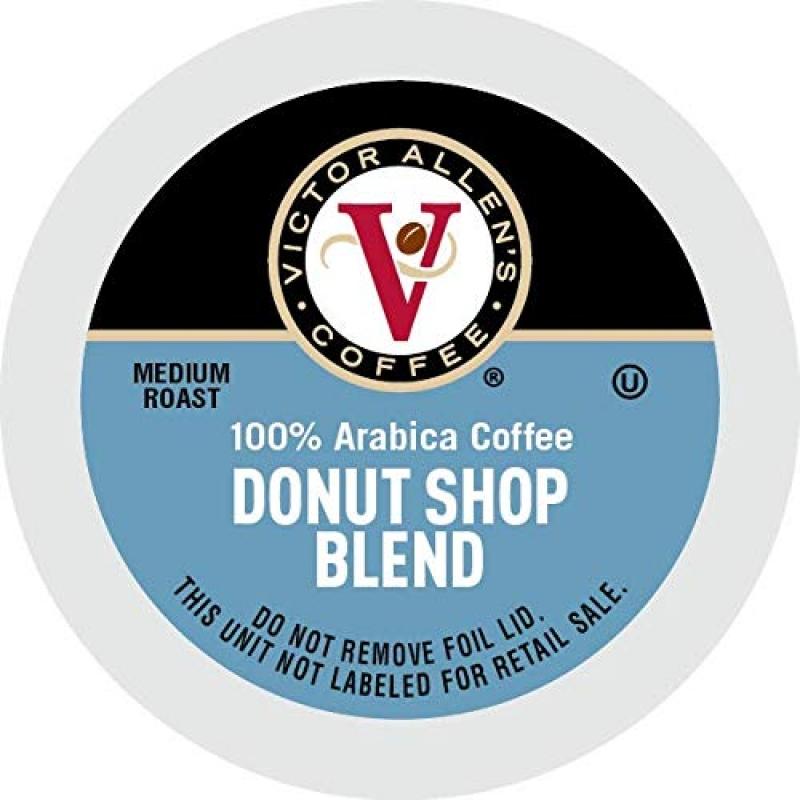 ihocon: Victor Allen Donut Shop Blend for K-Cup Keurig 2.0 Brewers, Coffee, Medium Roast Single Serve Coffee Pods, 80 Count  咖啡膠囊