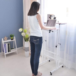 ihocon: [可調高度, 坐/站皆可] Mind Reader Multipurpose Home Office Computer電腦桌