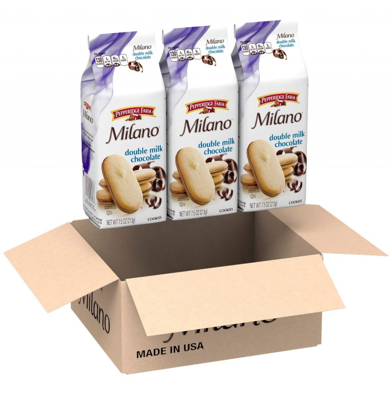 ihocon: Pepperidge Farm Milano Double Milk Chocolate Cookies, 7.5 Ounce (Pack of 3)   雙層牛奶巧克力餅乾