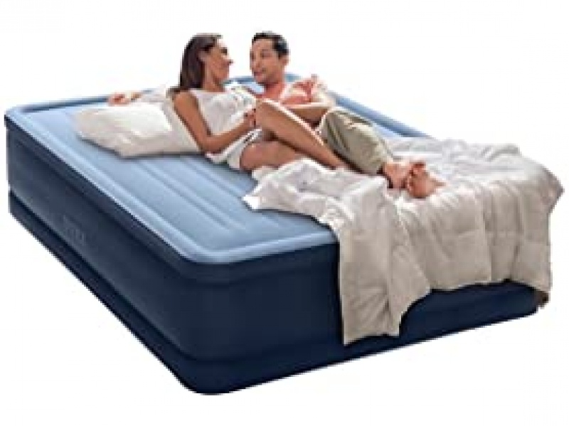 ihocon: Intex Premaire Series Robust Comfort Airbed with Built-In Electric Pump, Bed Height 20, Queen  內建打氣幫浦空氣床