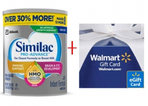 ihocon: Similac Similac Pro-Advance Non-GMO Infant Formula with Iron Powder 4-Ct 30.8-oz + $25 Walmart Gift