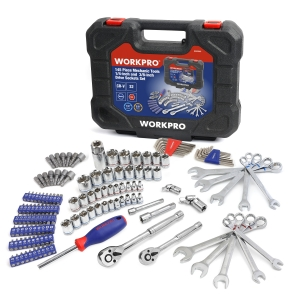 ihocon: Workpro 145 Piece Mechanic's Tool Set 1/4-inch and 3/8-inch Drive Sockets Set  145件技工的工具組