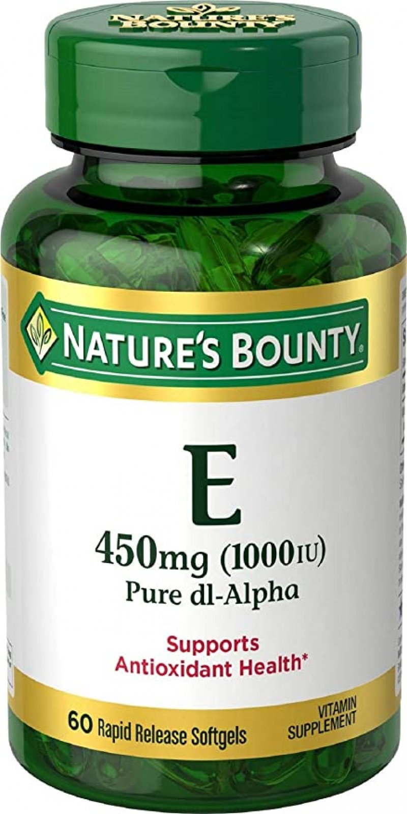ihocon: Nature's Bounty Vitamin E, 1000IU, 60 Softgels