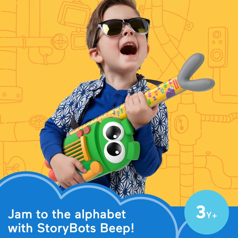 ihocon: Fisher-Price Storybots A to Z Rock Star Guitar Musical Learning Toy 兒童玩具吉他