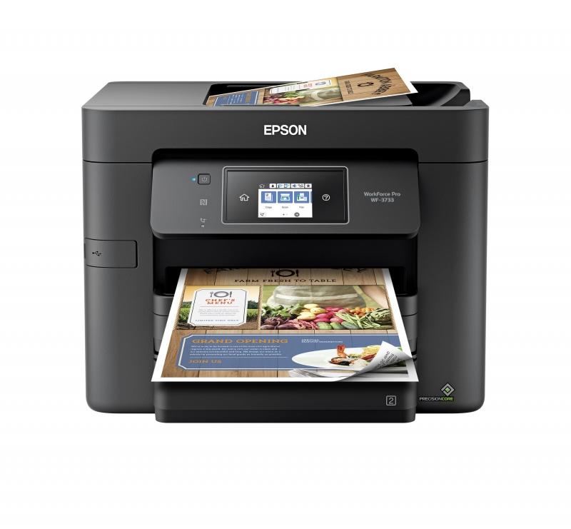 ihocon: Epson WorkForce Pro WF-3733 Wireless All-in-One Color Inkjet Printer 無線多合一彩色噴墨印表機