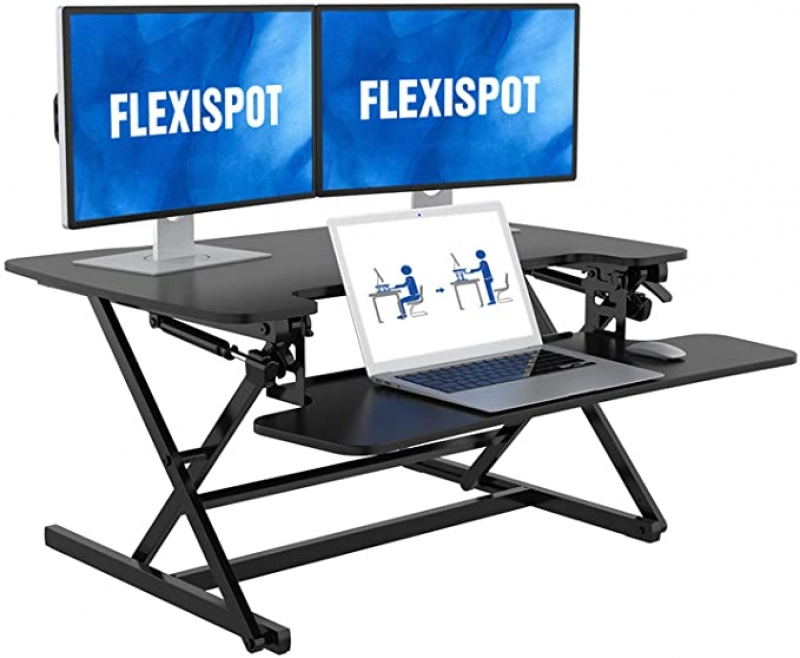ihocon: FlexiSpot 35 inch Height Adjustable Standing Desk Converter 可調高度電腦桌增高架