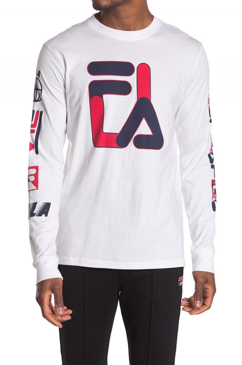 ihocon: FILA Sandro Graphic Crew Neck Shirt男士長袖衫