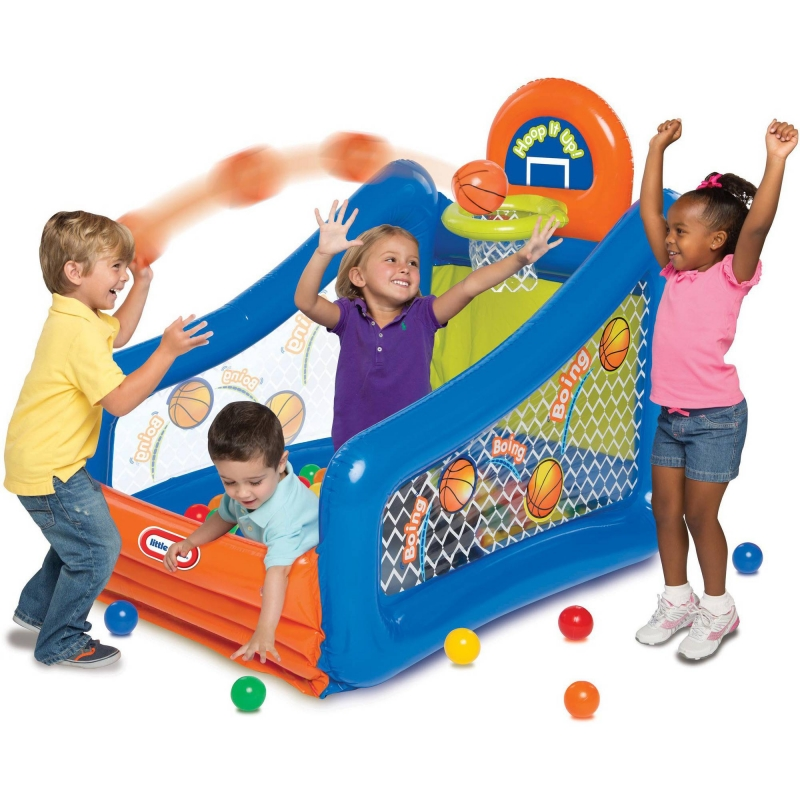 ihocon: Little Tikes Hoop It Up! Play Center Ball Pit 兒童遊樂球池