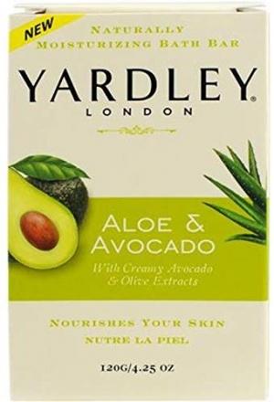 ihocon: Yardley London Aloe & Avocado Naturally Moisturizing Bath Bar, 4.25 ounce  蘆薈/牛油果天然保濕皂